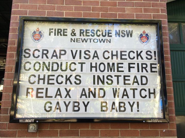 Couldn't have said it better. Thanks, Newtown Fire Station.