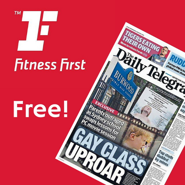 Helping: promotional material for Fitness First's free newspaper offer. Let's hope they use it. You're welcome, Fitness First.
