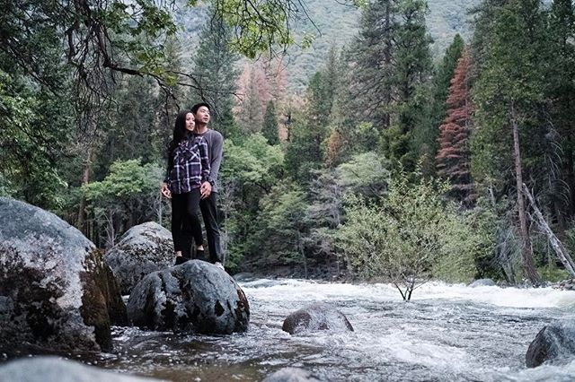 That time adventure couple Mark & Megan took us a long for an epic engagement session in Yosemite.