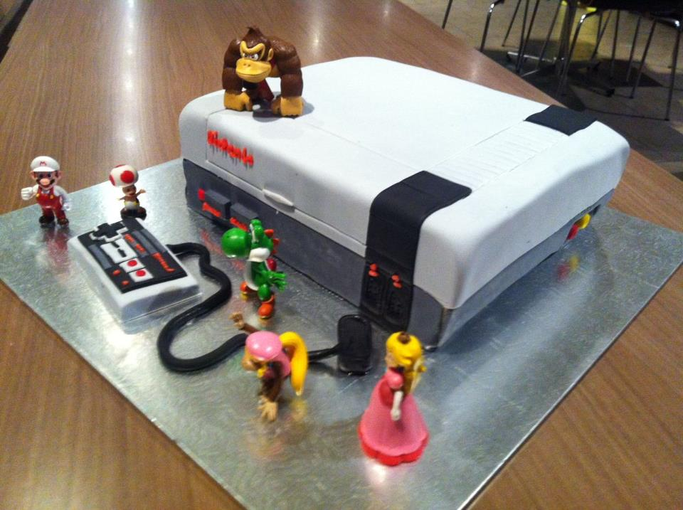 Nintendo console cake