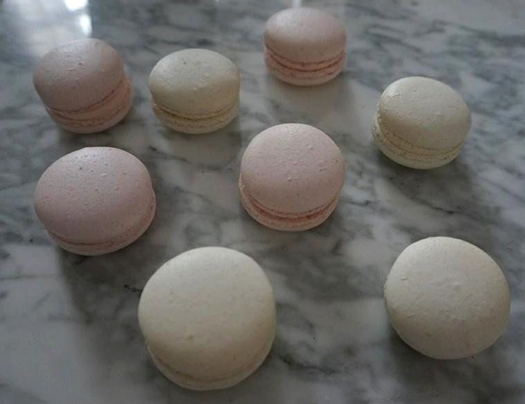 Pastel Pink Macarons