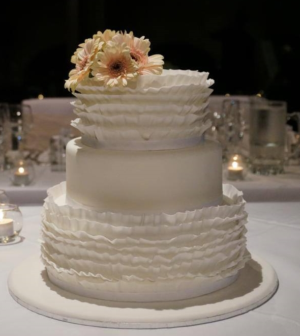 Ruffle wedding cake - 3 tier