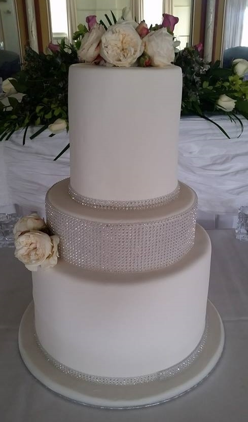 Diamonte Wedding Cake