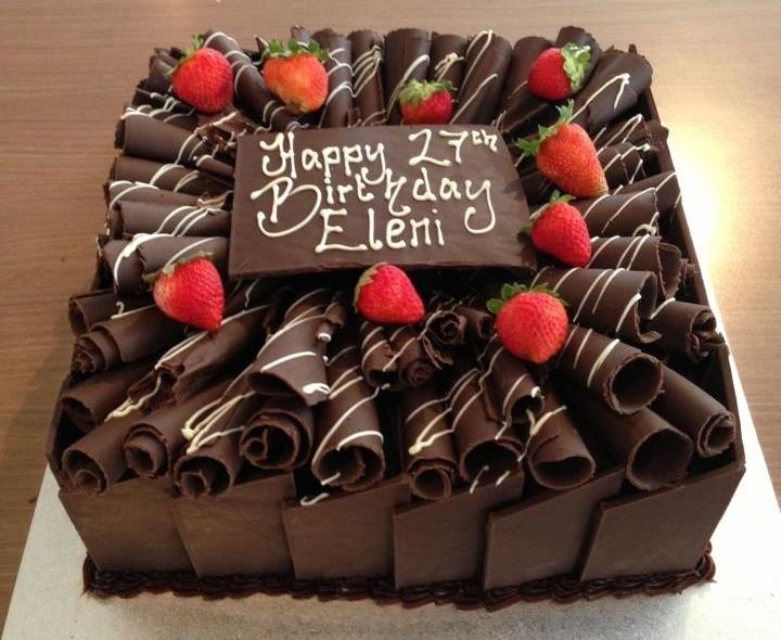 Chocolate Panel Birthday Cake