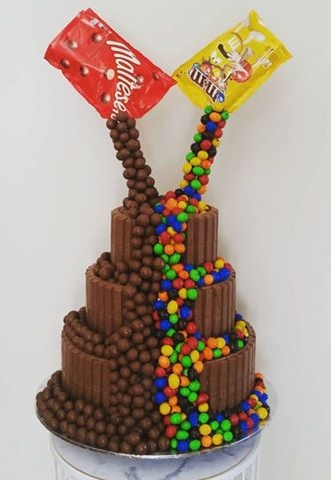 M&M Malteser Wedding Cake