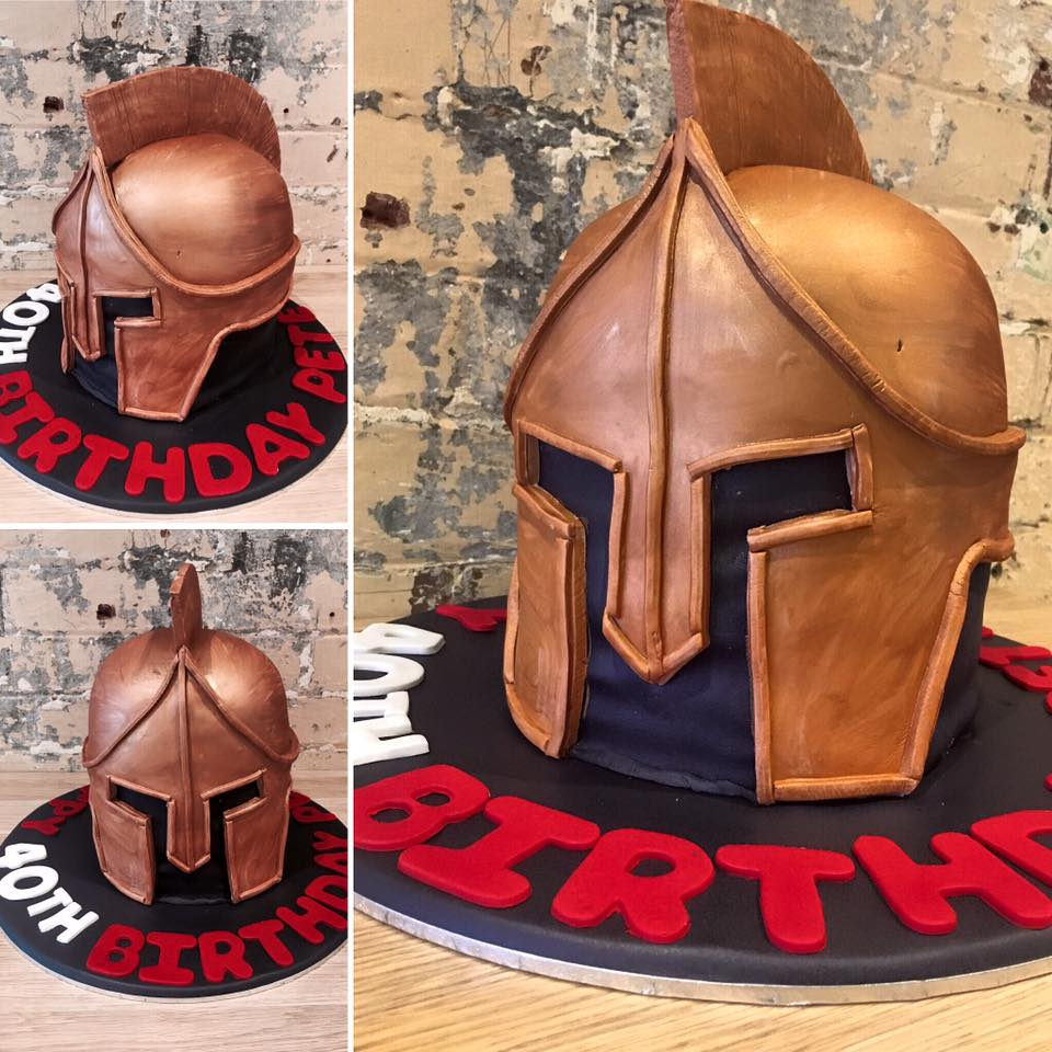 Spartan Helmet Cake