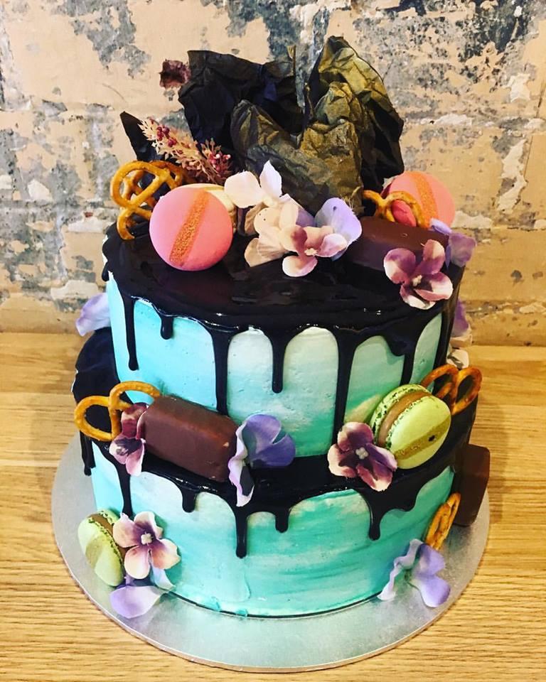 Jade Drip Cake