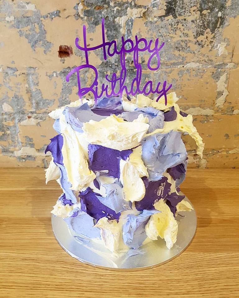 Purple Camouflage Cake