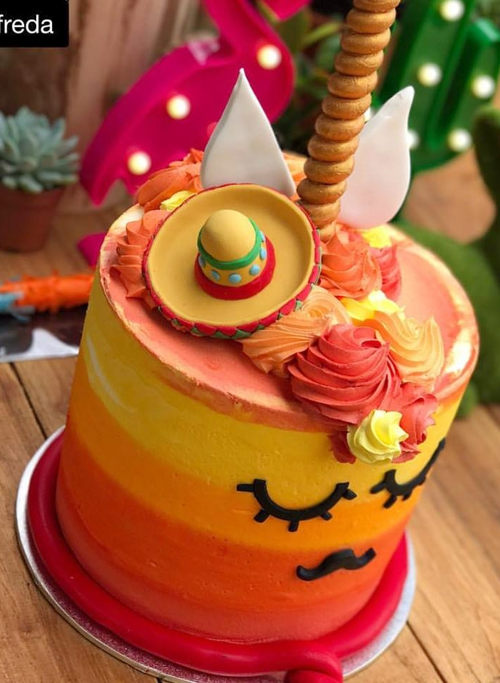 Mexican Unicorn Cake