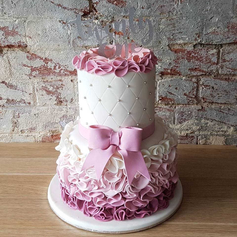 Pink Ombre Frills Cake