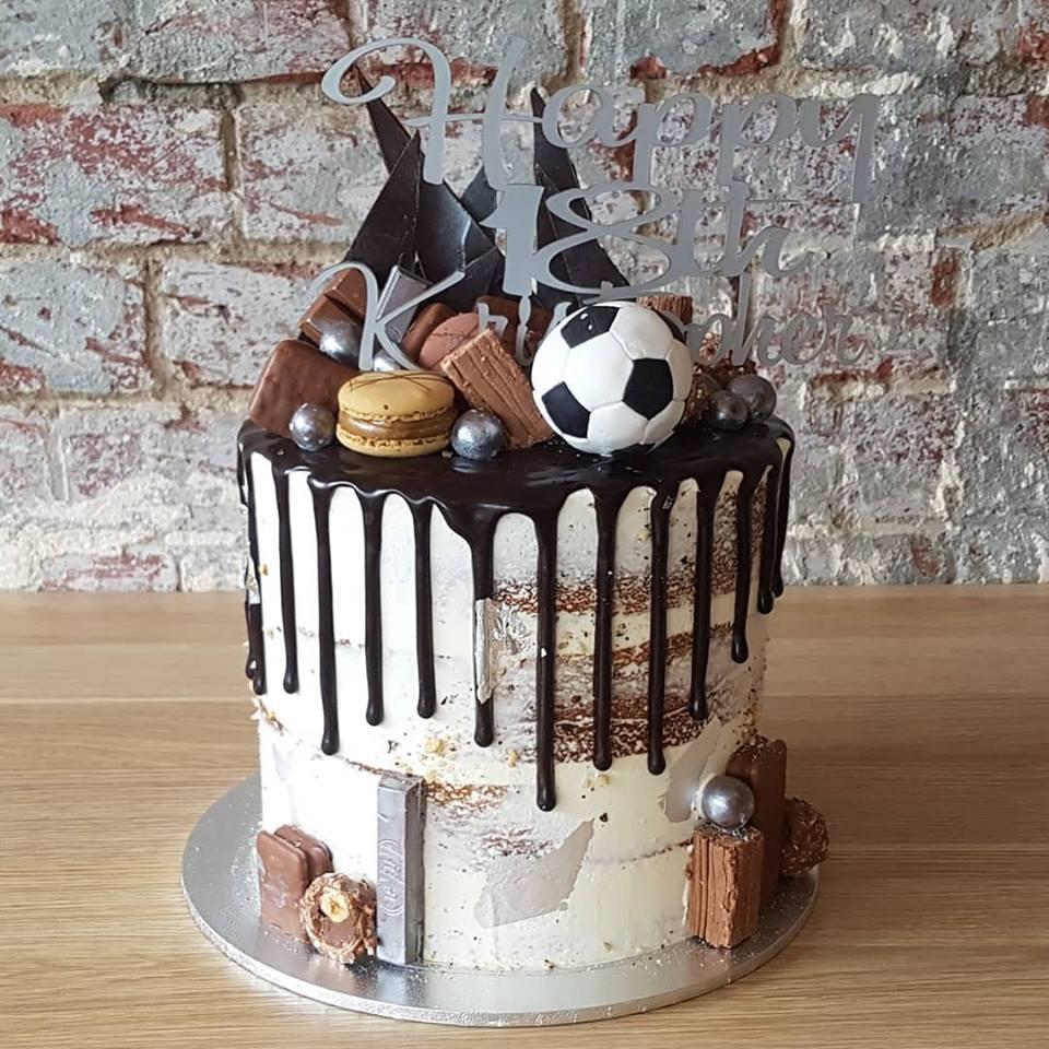Soccer Drip Cake