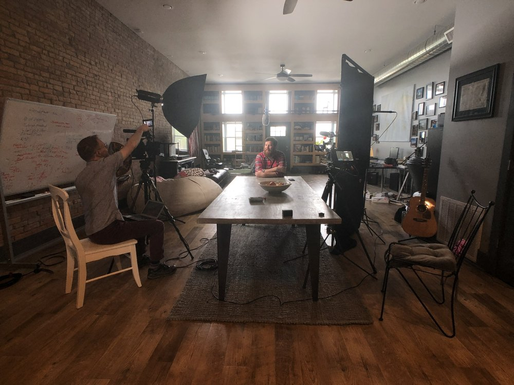 Shooting with filmmaker Peter Jordan, and entrepreneur Alan Doan