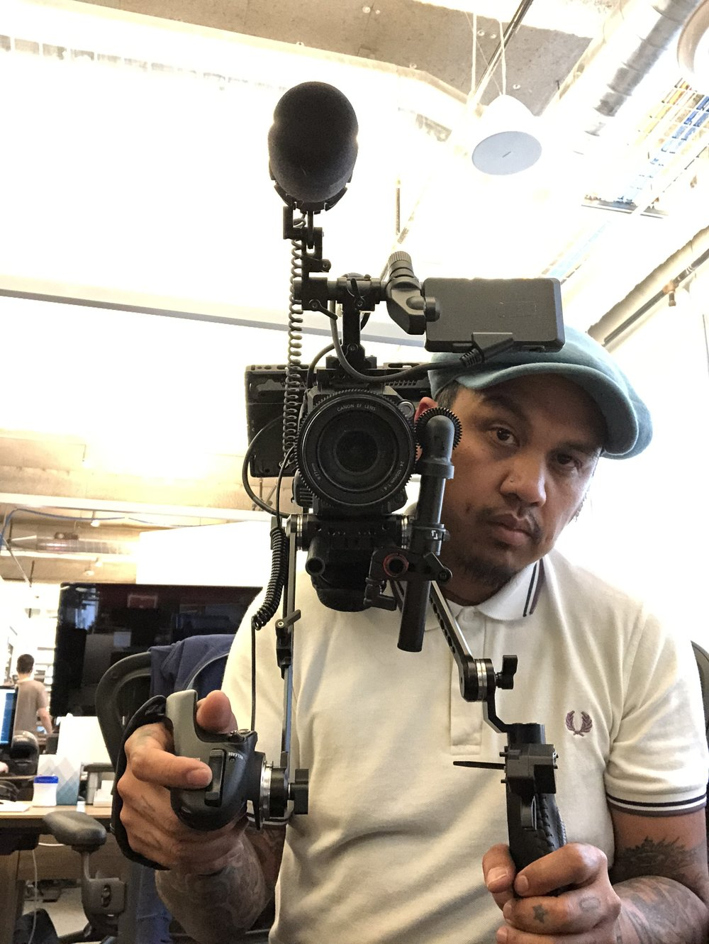 with my trusty Sony FS5