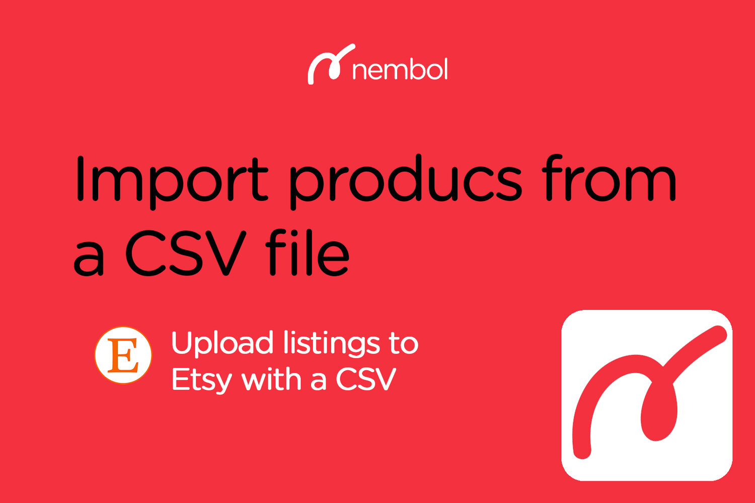 Use a CSV file to publish products on eBay, Shopify, Etsy