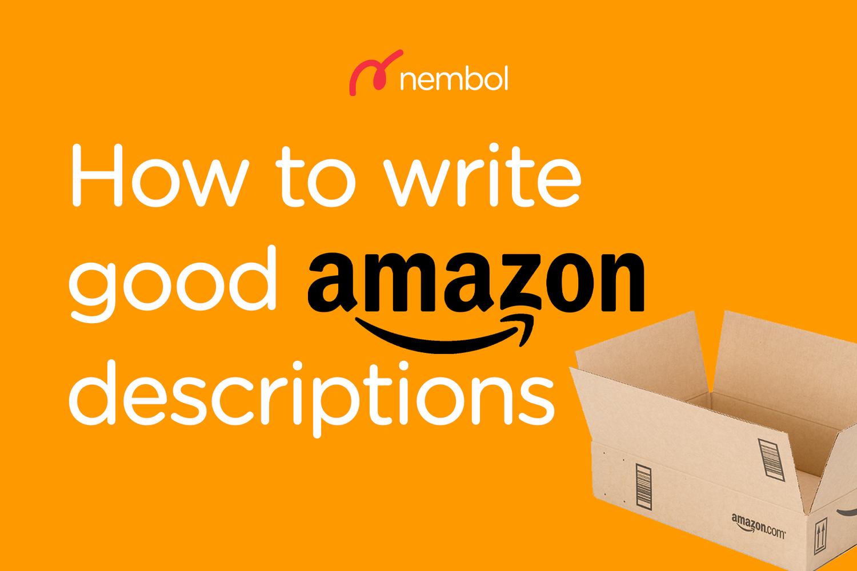 Easily publish bullets in your Amazon product descriptions - Nembol