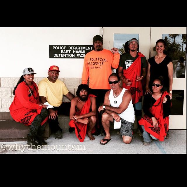 Mauna Kea Protectors after bailing out from todays arrests and successful show down with TMT construction crews and DLNR police. #whythemountain #wearemaunakea #alohaaina #kukiaimauna #kuleana @whythemountain @prideofgypsies @kahookahi @josh8kila