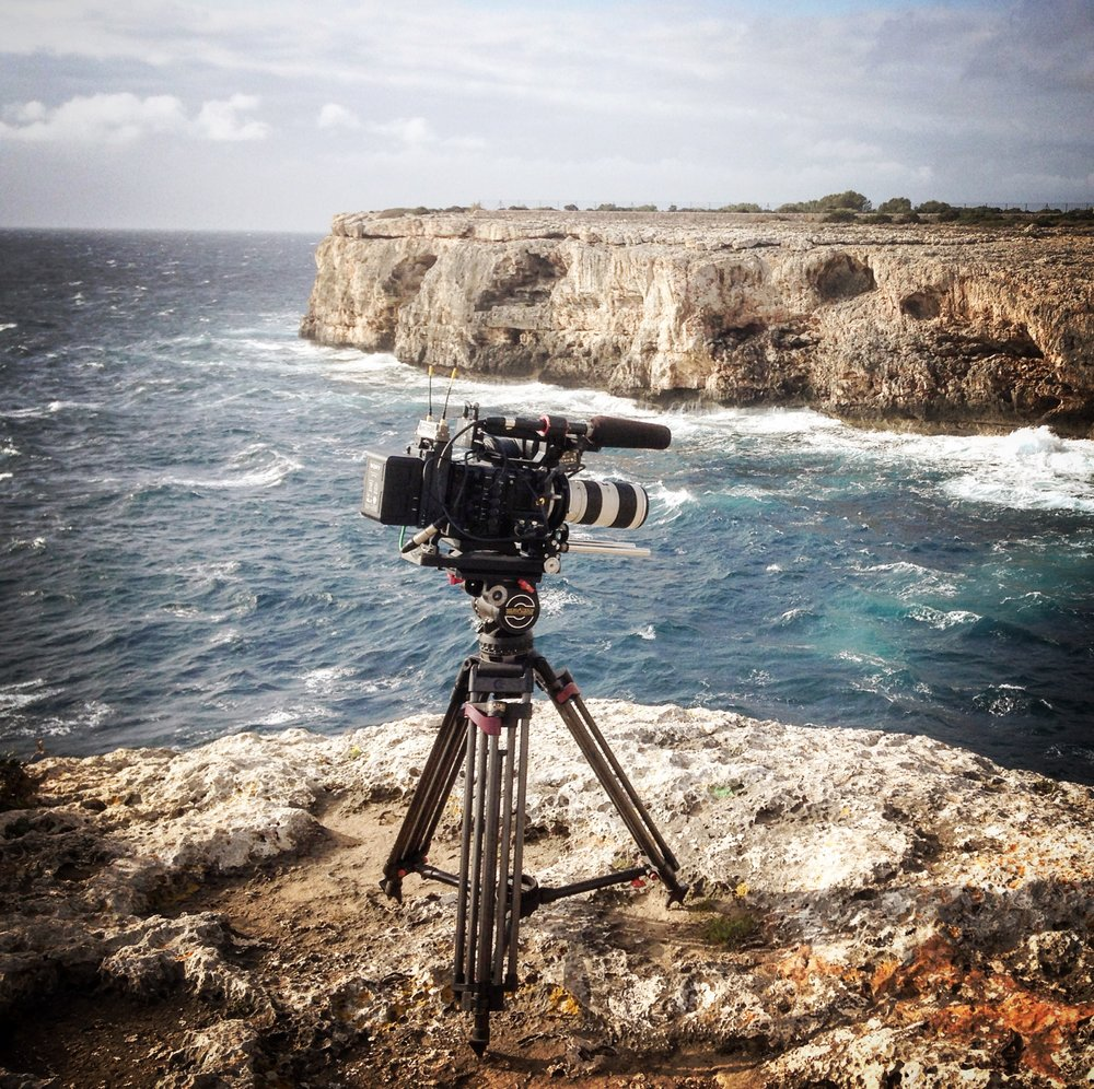 Ready for action! The Sony F55 set-up during a recent shoot in Majorca