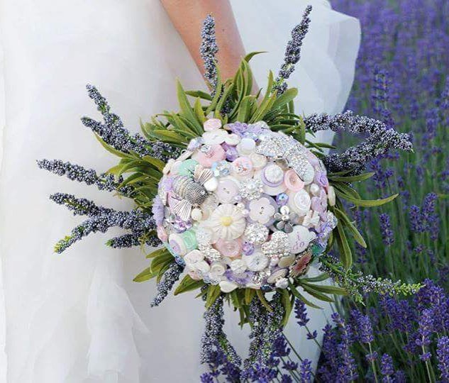 Alternative to Flowers Lavender Button Bouquet.jpg