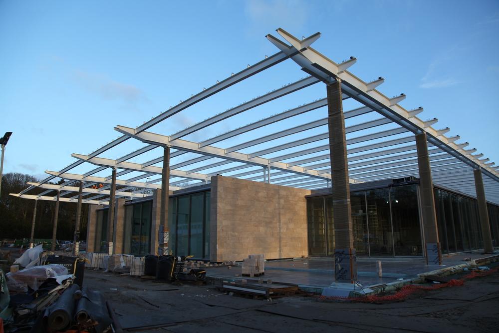 Het museum in aanbouw (foto: Museum Voorlinden)