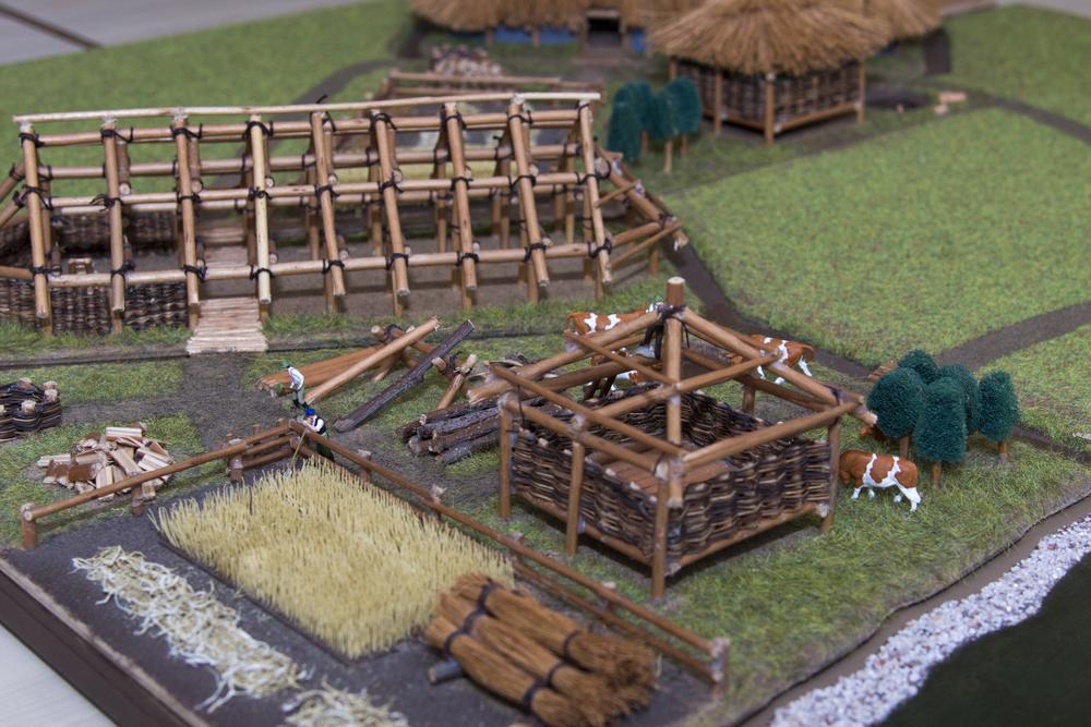 Maquette van een boerderij uit de IJzertijd (foto  Corine van Kuilenburg )