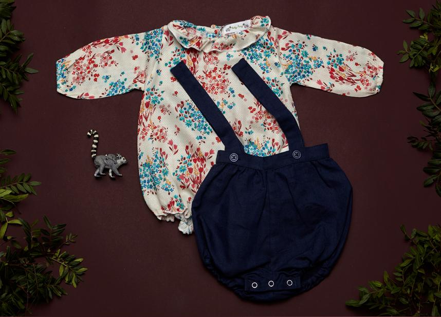 ELLA blouse, HARLEY rompers