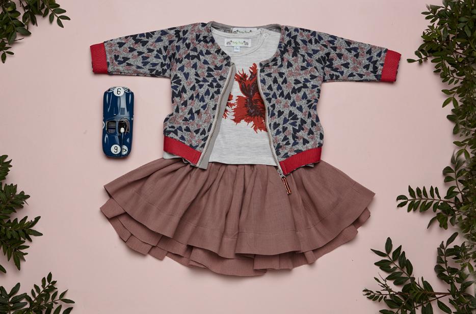BODHI cardigan, KARA tshirt, BELLA REVERSIBLE skirt