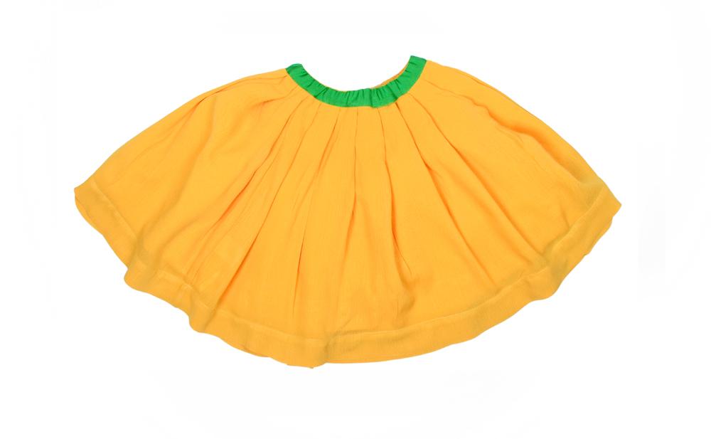 BELLA JUNIOR skirt Mustard with Green ribbon Junior.jpg