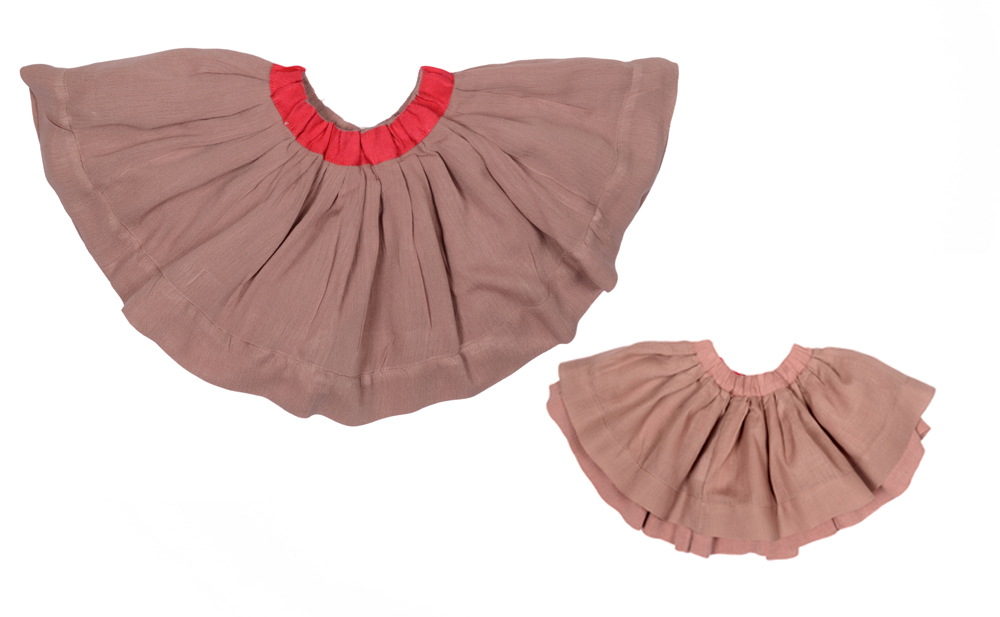 BELLA JUNIOR skirt Dusty Rose with Electric pink ribbon Junior.jpg