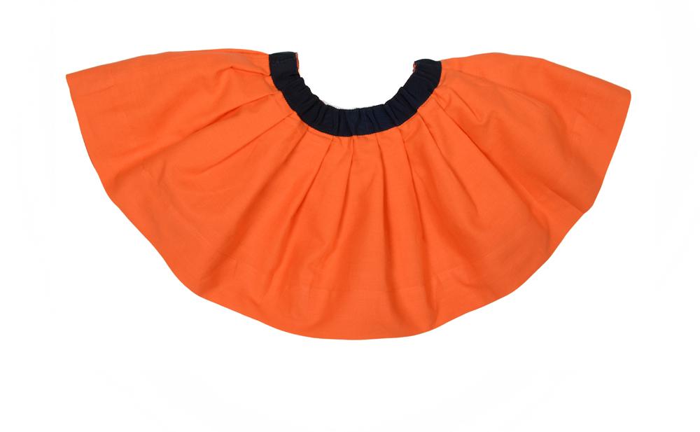 BELLA Junior skirt Coral with Navy ribbon Junior.jpg .jpg