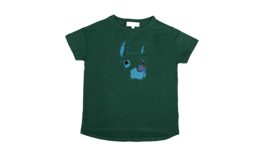 HAVANA tshirt green with blue lama print.jpg