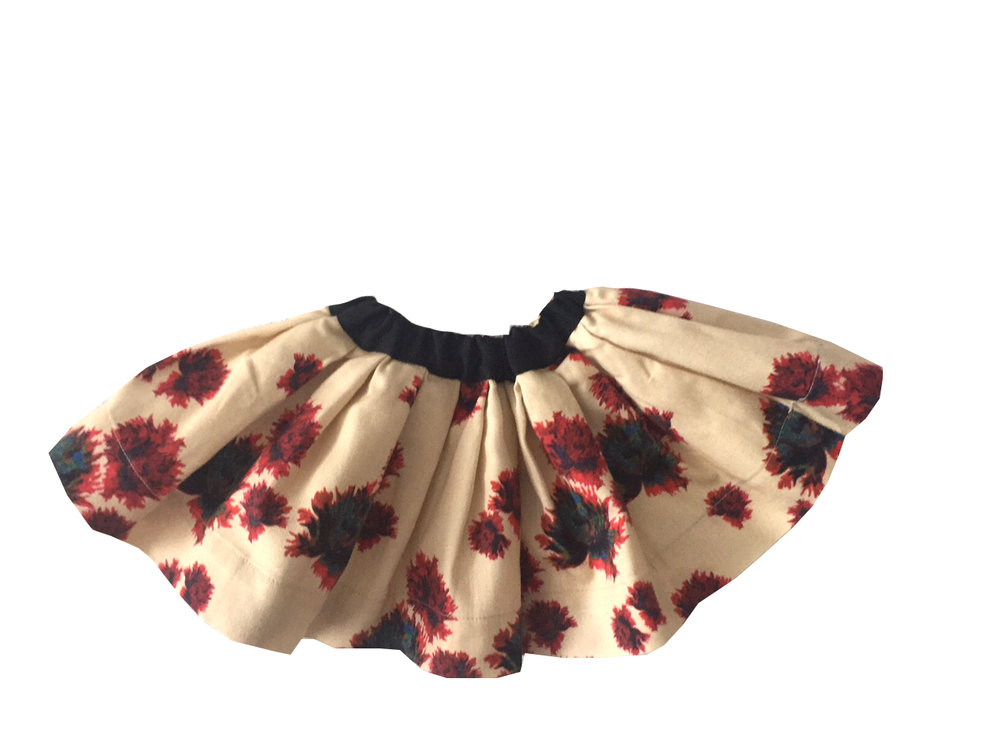 BELLA JUNIOR skirt Mustard with Green ribbon Junior.jpg