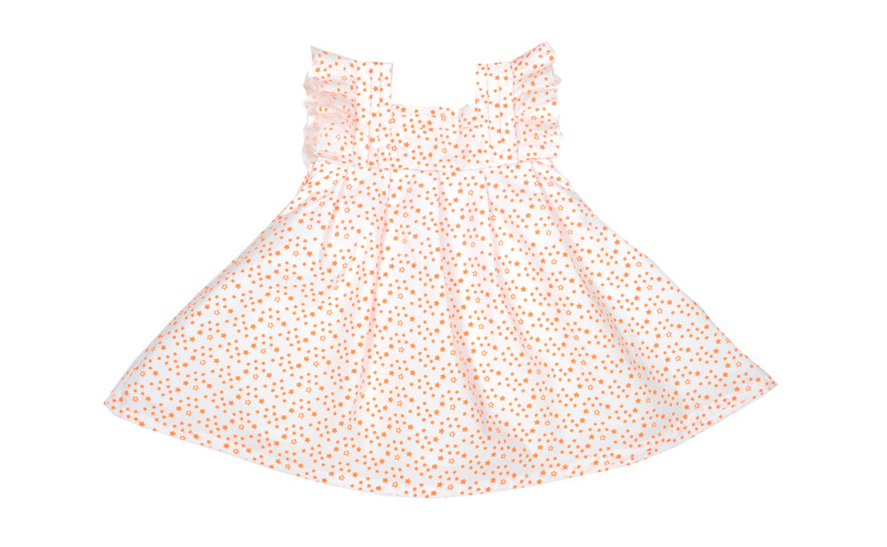 KATE dress white with electric coral star.jpg