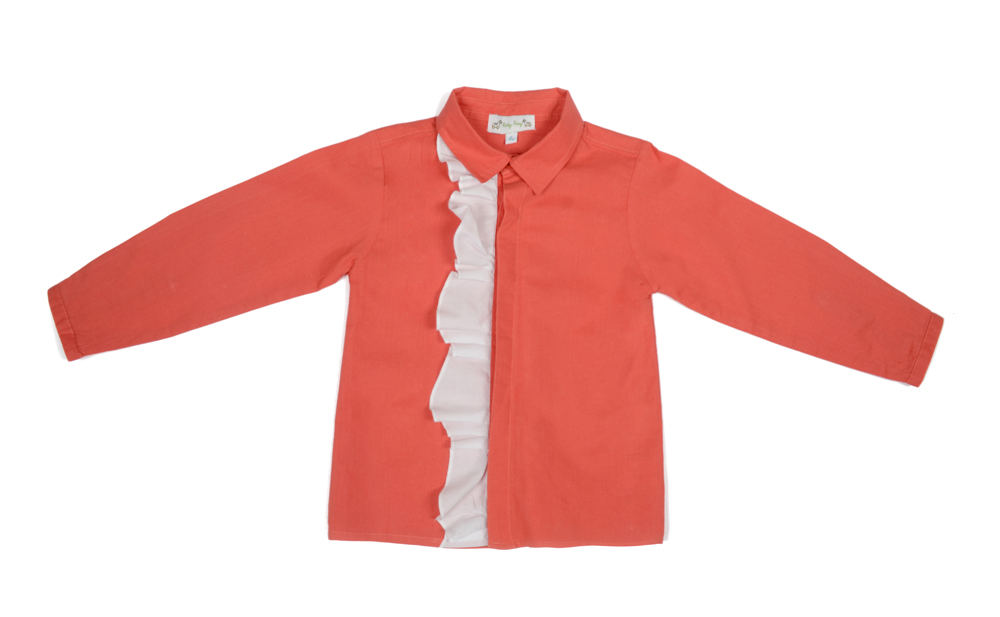 SOPHIA shirt coral with white frill.jpg