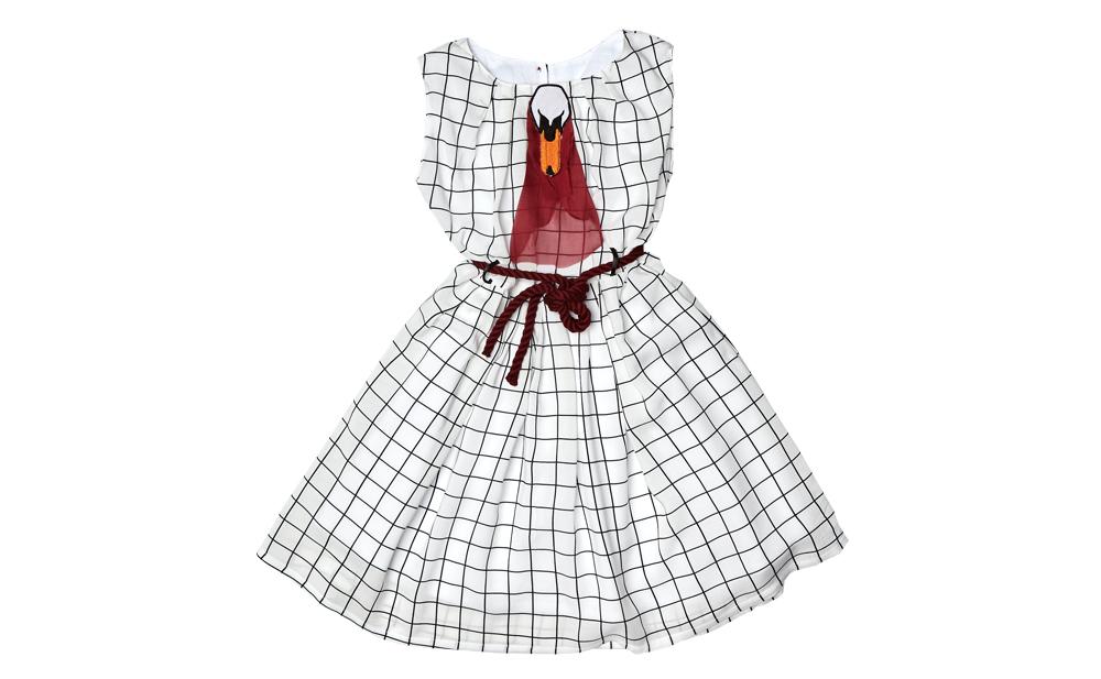 LIANA dress BlackWhite Burgundy Tie.jpg