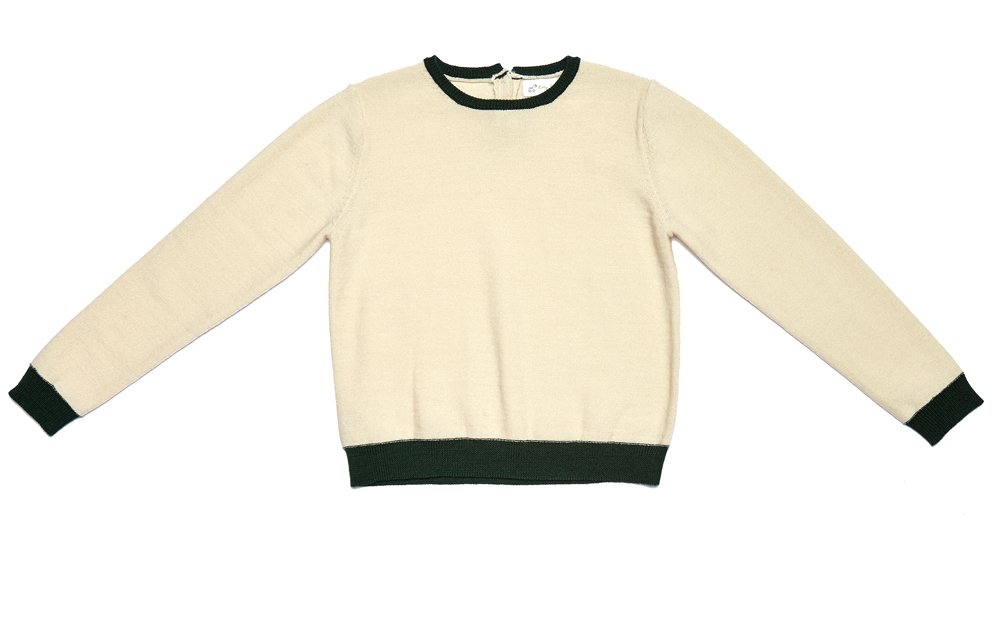 HOLIDAY Jumper Cream with Green Junior.jpg