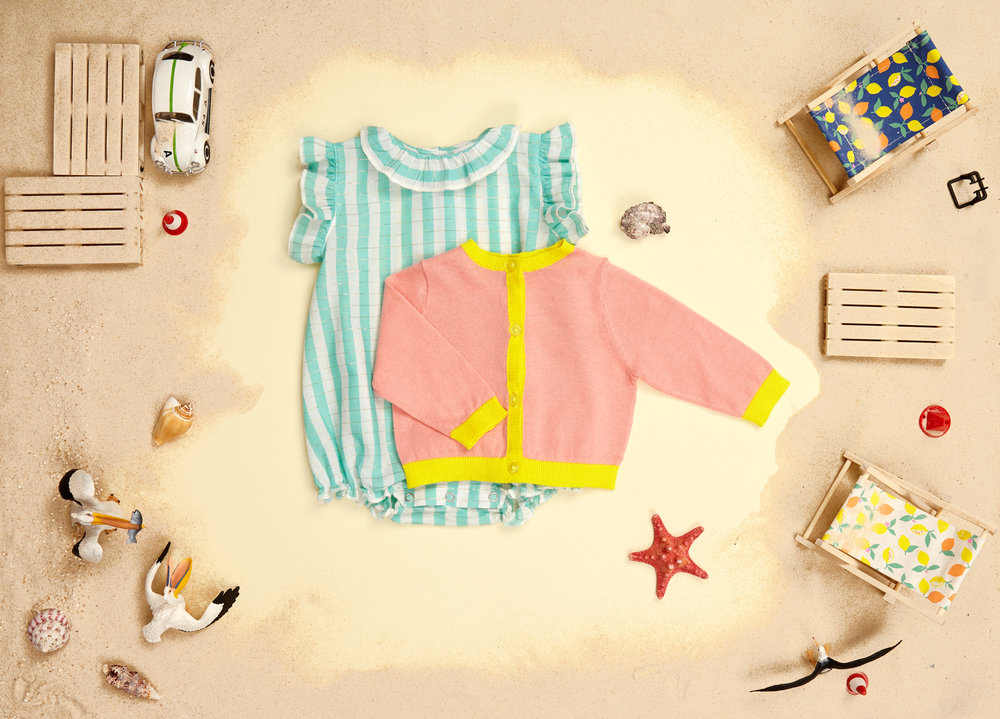 Weekend rose and canary baby look with Milla green stripe top.jpg