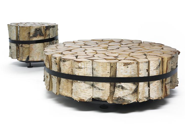 fs coffee table '#1 & #2' log — david gill gallery