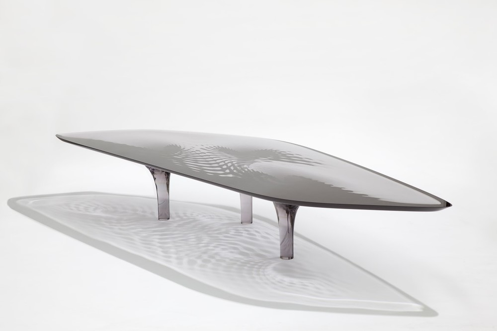 Zh coffee table 39 liquid glacial 39 colour david gill gallery for Zaha hadid liquid glacial