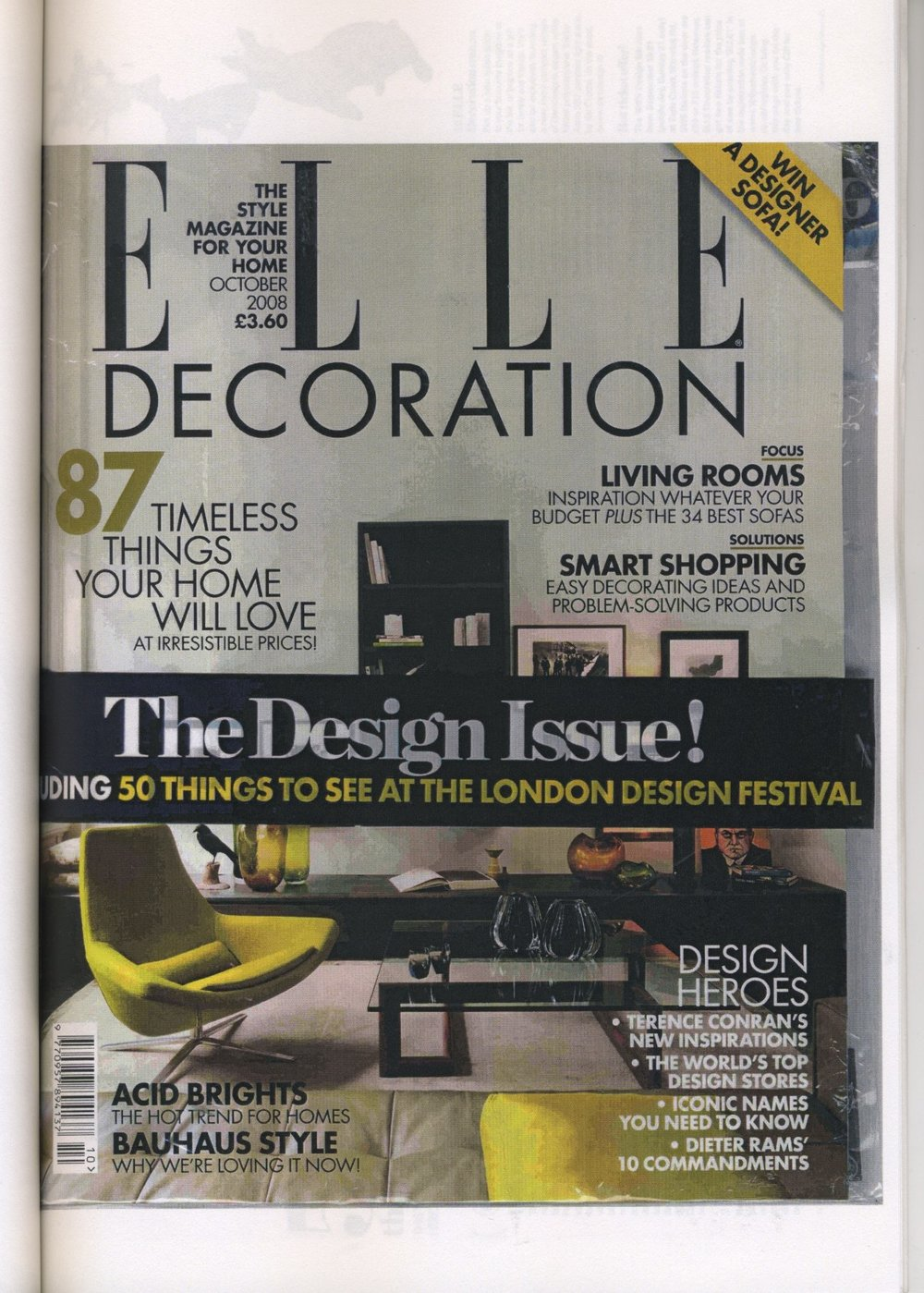 Elle Decoration Oct 2008: London Design Festival