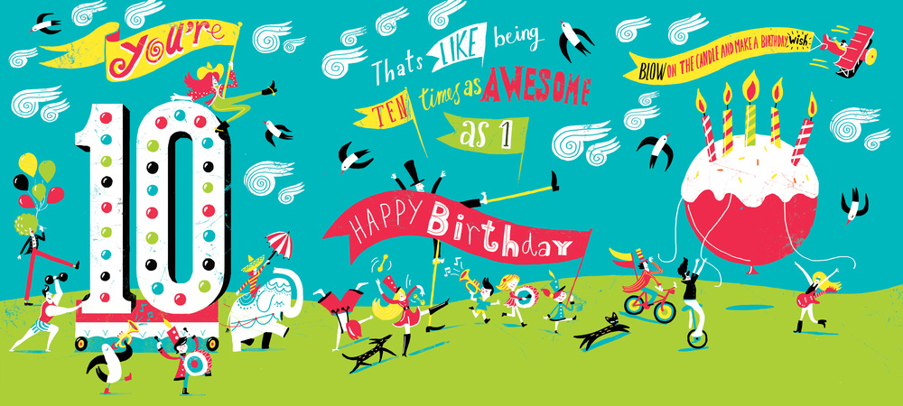 American Greetings 10 Year Old Birthday Card Migy