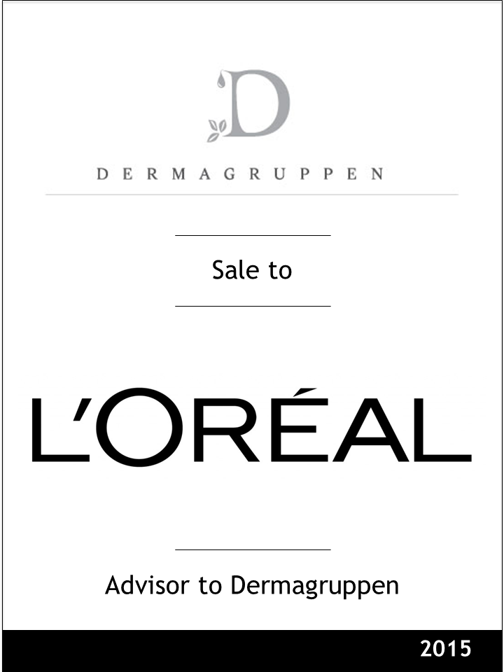Steinvender advised Norwegian cosmetics distributor Dermagruppen in the sale of certain distribution activities to L'Oreal