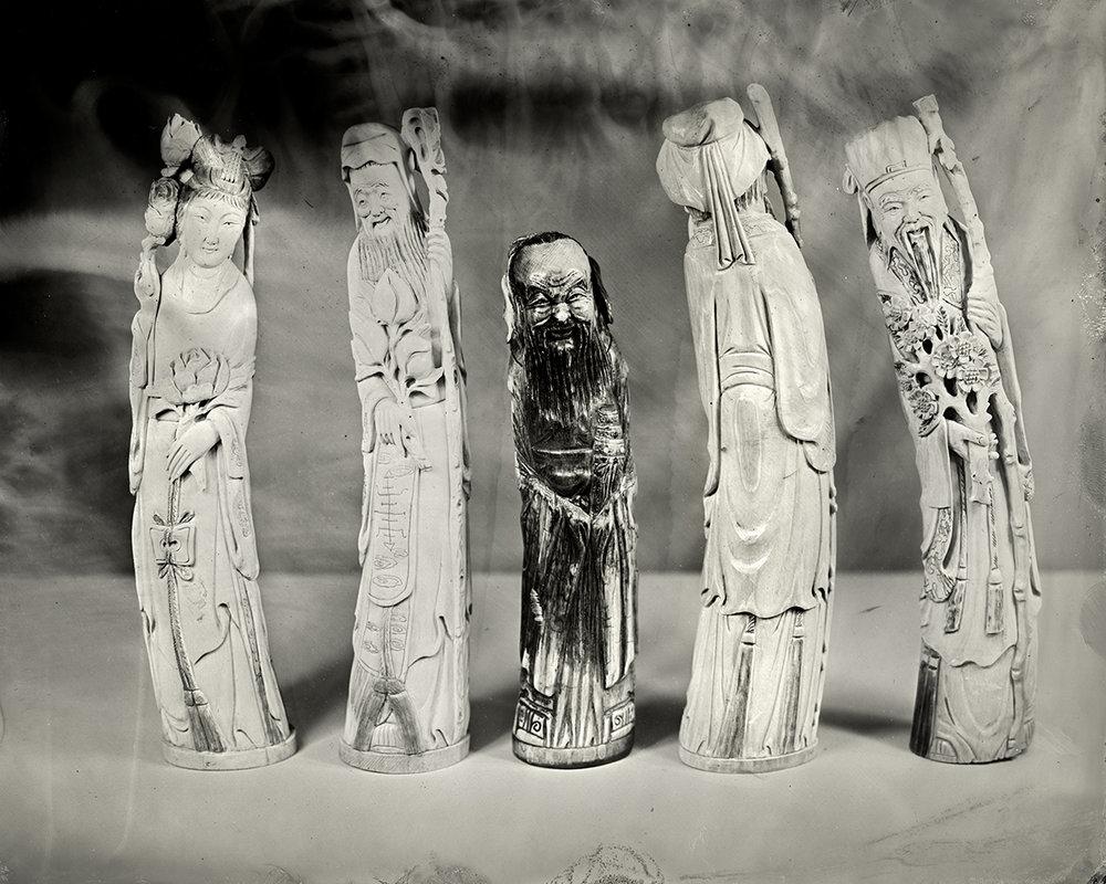 Five Ivory Statues, 2018