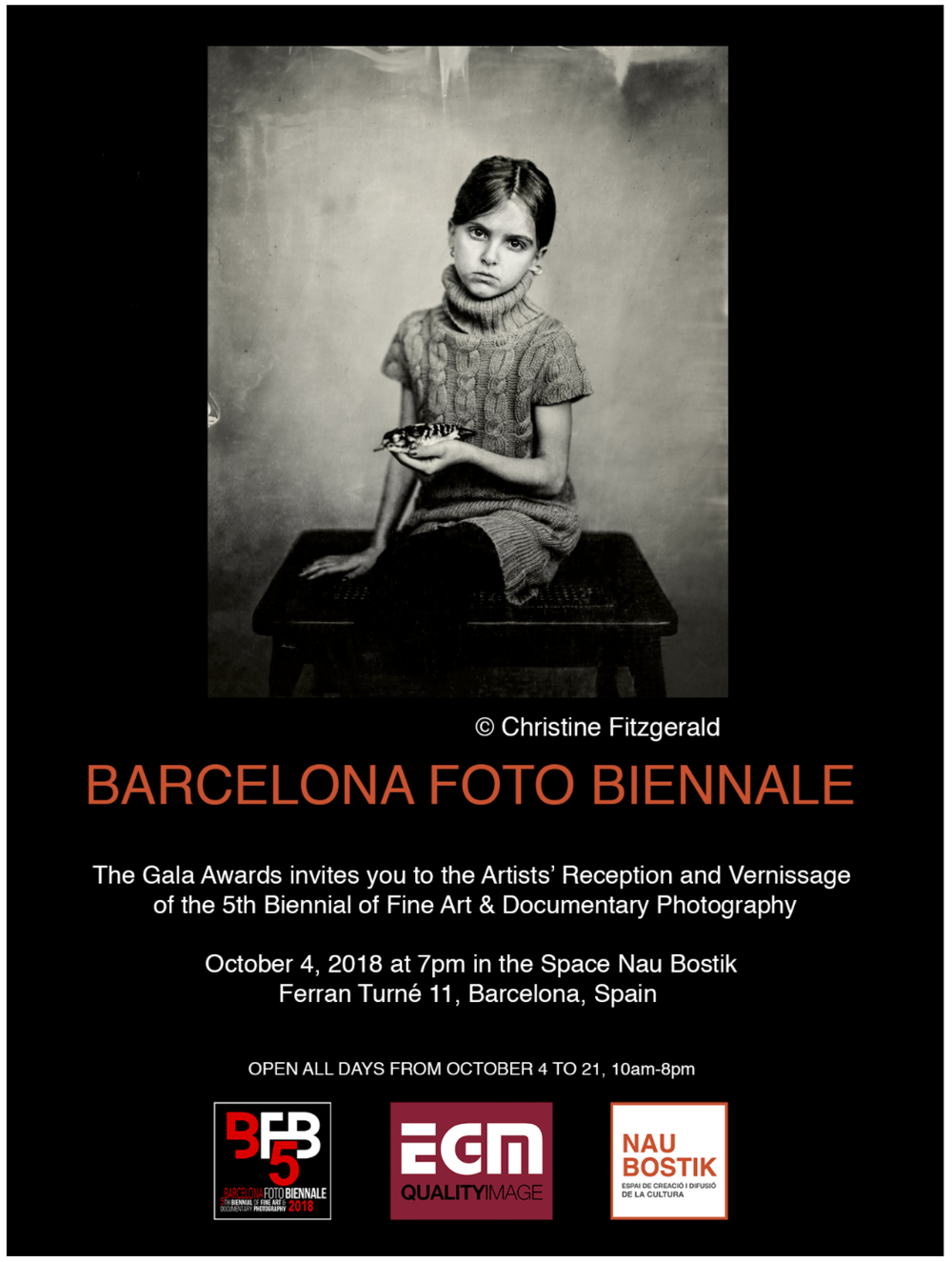Barcelona Foto Biennale, Oct 4 to 21, 2018