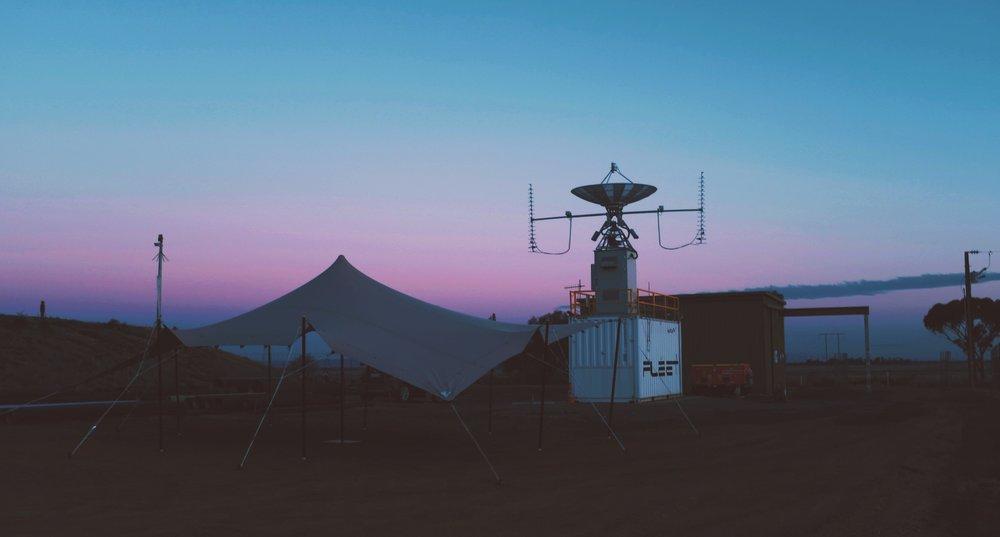 Fleet Ground Station in the Evening.JPG