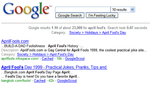 Prior to the launch of AdWords, this was how Google appeared with no ads (photo credit: https://edge45.co.uk, 2017).