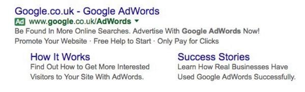 A modern AdWords ad