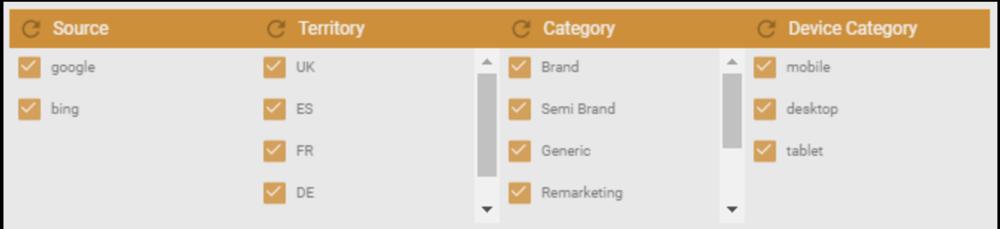data studio filter
