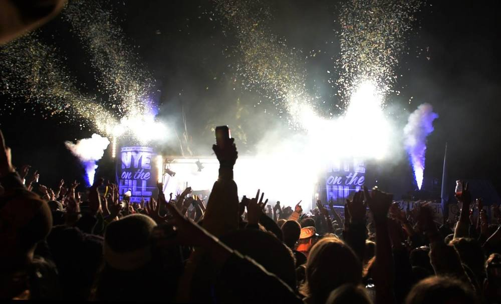 Powershot Confetti Cannons at NYE on the Hill Festival Australia - Blaso Pyrotechnics