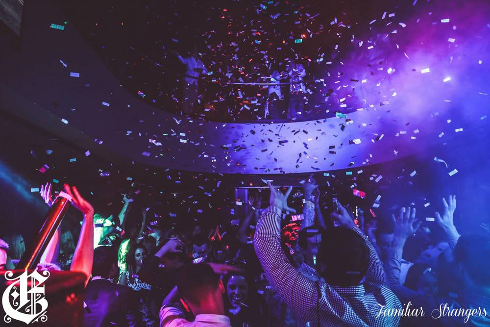 Confetti Cannons fired in Melbourne Club The Emerson - Blaso Pyrotechnics