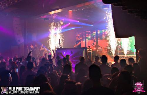 Indoor Fireworks during DJ Set - Blaso Pyrotechnics, Melbourne, Australia